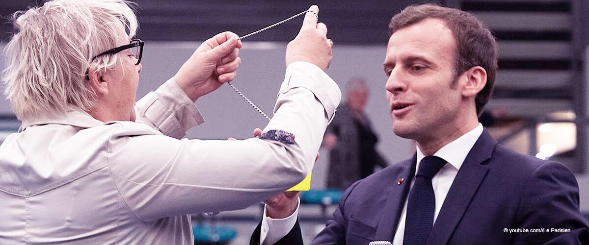 Emmanuel Macron : une femme a tenté de lui passer un gilet jaune