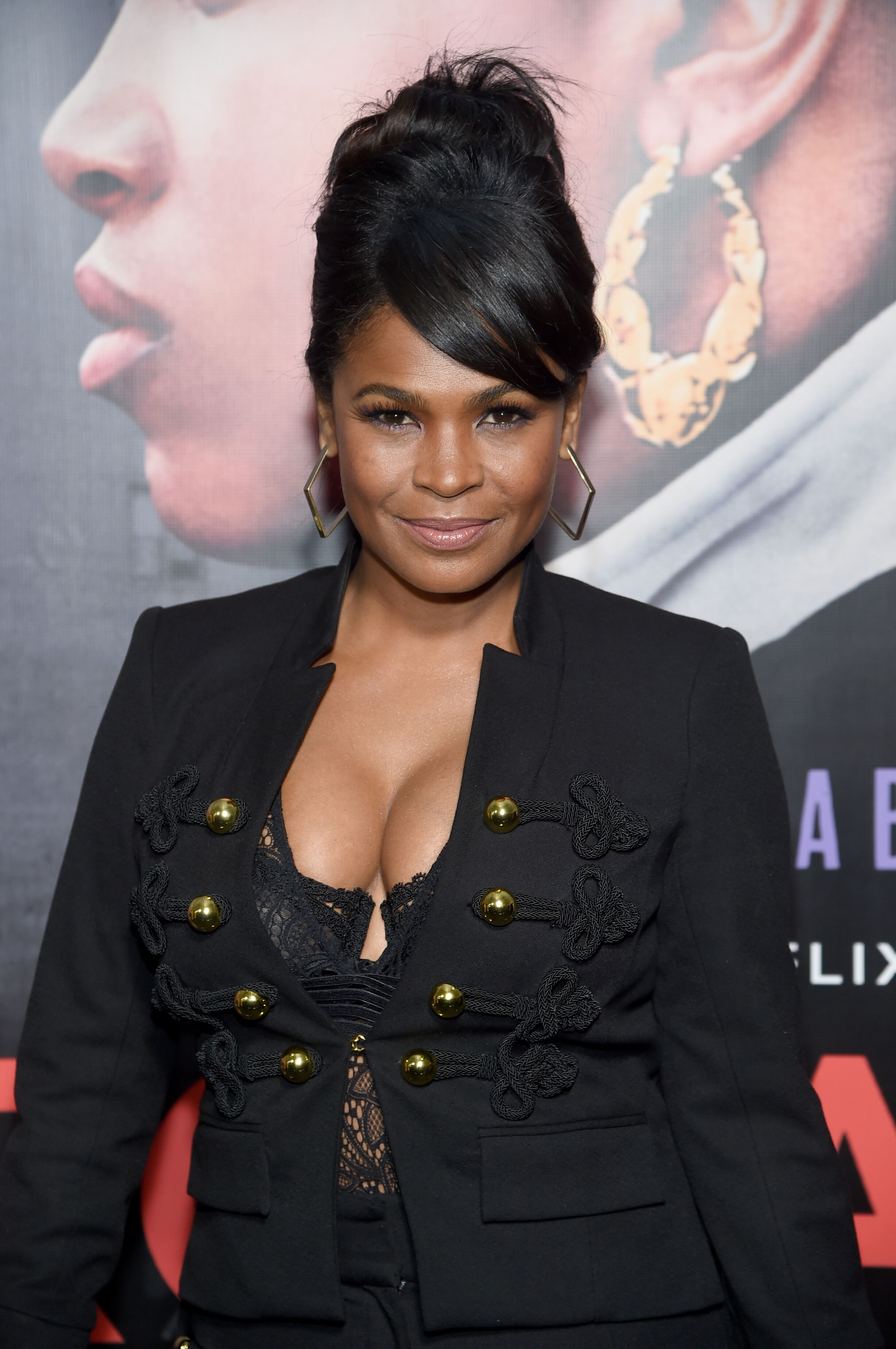 """Nia Long at the screening of """"Roxanne Roxanne"""" in 2018 