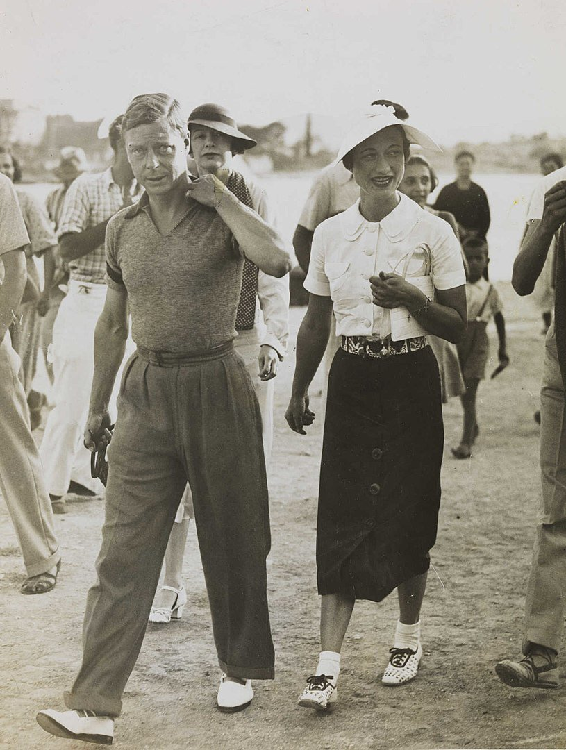 Edward VIII and Wallis Simpson on their Mediterranean holiday in 1936 | Source: Wikimedia Commons