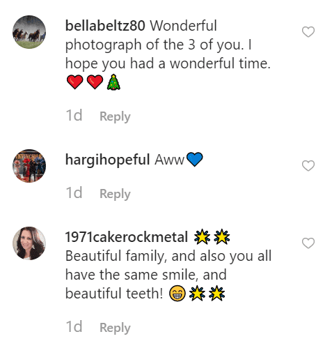Fan comments on Melissa's post | Instagram: @melissaellengilbertbusfield