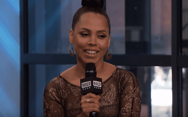 """Amirah Vann discussing her WGN America Show, """"Underground,"""" on BUILD Series.   Photo: YouTube/BUILD Series"""