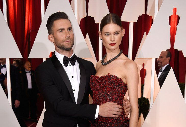 Adam Levine and wife Behati Prinsloo at the 87th Academy Awards in 2015 in Hollywood | Source: Shutterstock