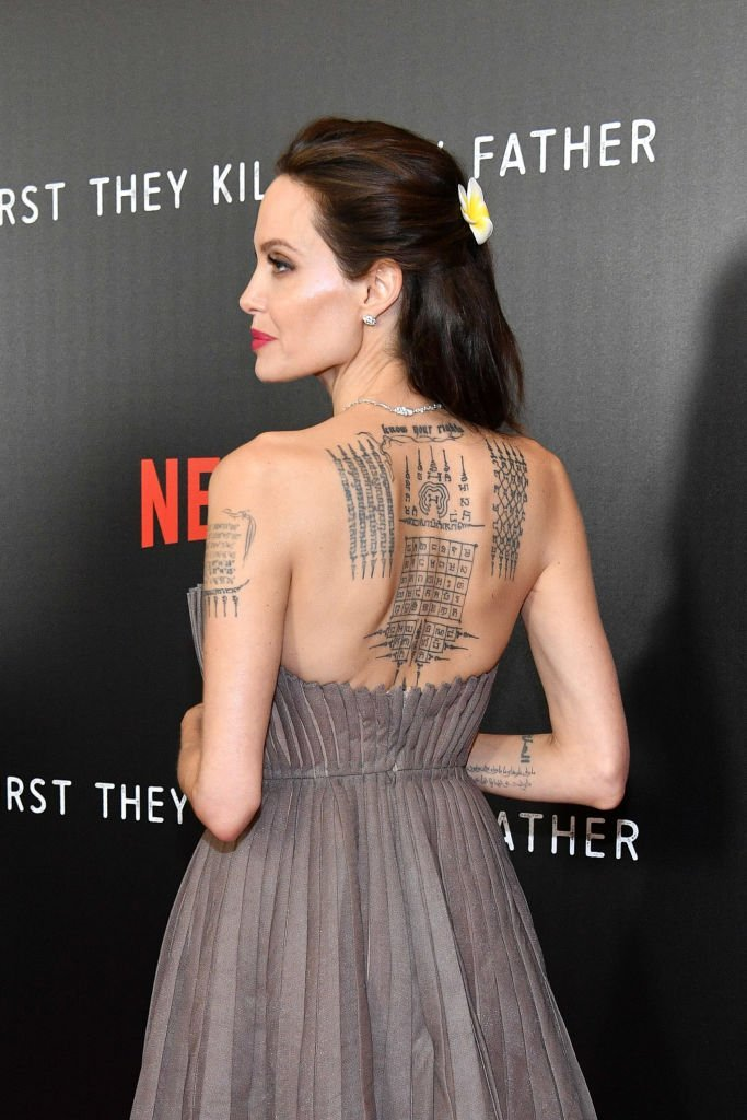 """Angelina Jolie attends the New York premiere of """"First They Killed My Father"""" on September 14, 2017 