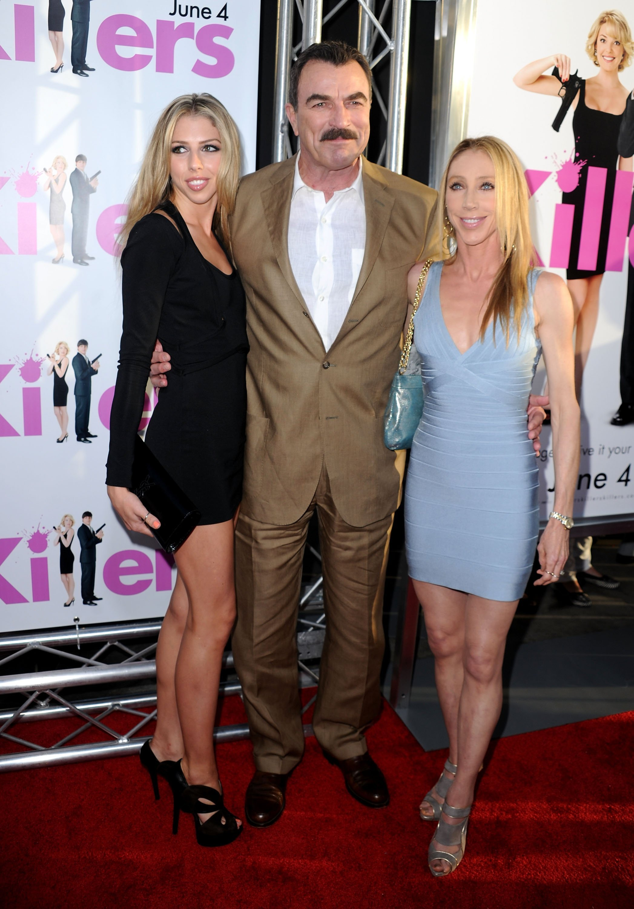 "Hannah Margaret Selleck, Tom Selleck and Jillie Mack at the premiere of ""Killers"" on June 1, 2010 