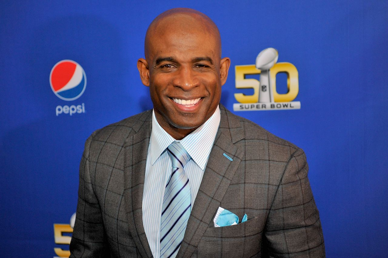 Deion Sanders at the 2015 Pepsi Rookie of the Year Award Ceremony at Pepsi Super Friday Night at Pier 70 on February 5, 2016   Photo: Getty Images