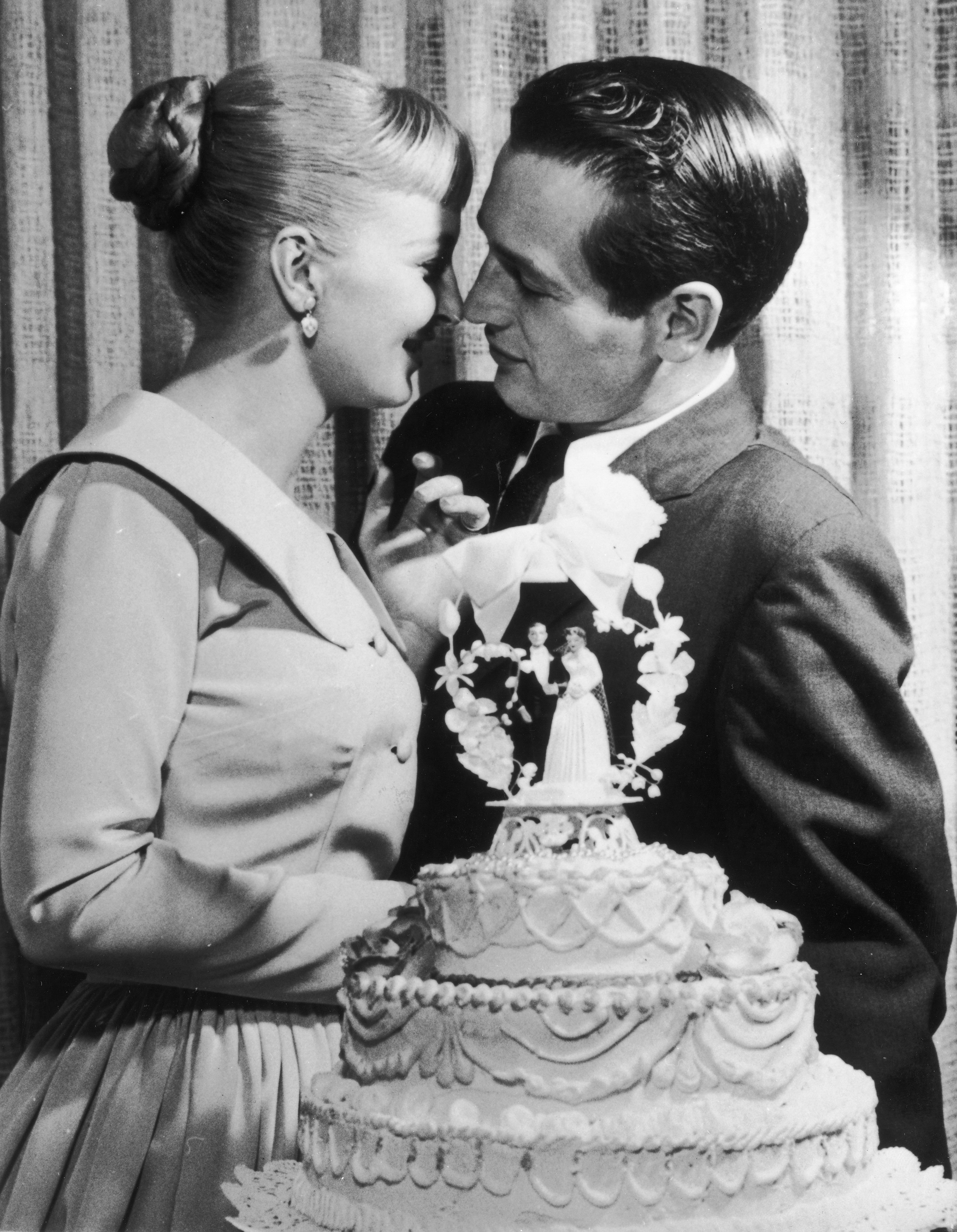 Paul Newman and Joanne Woodward at their wedding in Las Vegas in 1958   Source: Getty Images