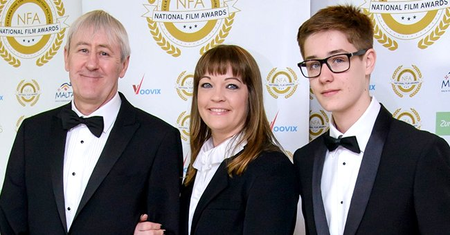 Nicolas, Lucy and Archie Lyndhurst pictured National Film Awards at Porchester Hall, 2017. London, England. | Photo: Getty Images