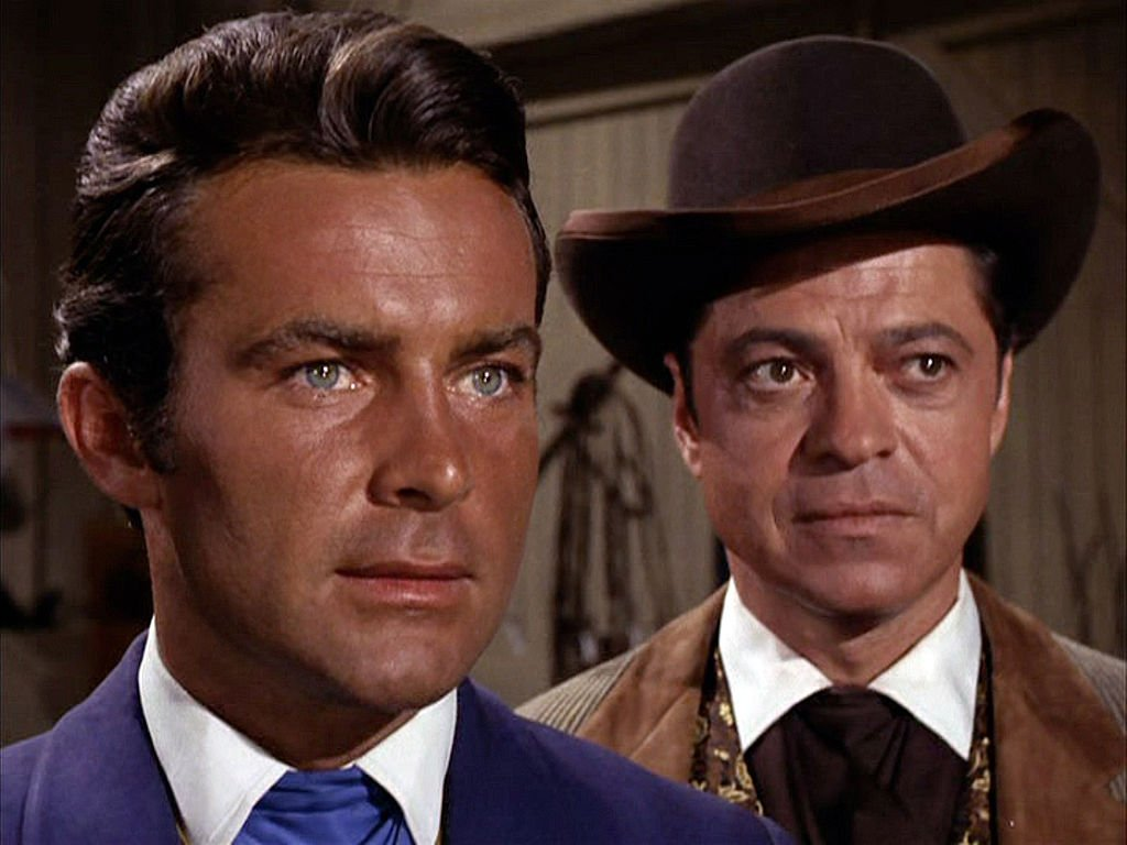 "A close shot of actor Ross Martin and fellow co-star Robert Conrad, who played James T. West in the hit series ""The Wild Wild West."" 