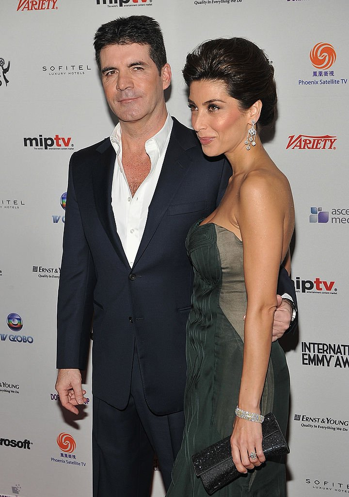 Simon Cowell and his fiancee Mezhgan Hussainy at the 38th International Emmy Awards at the New York Hilton and Towers on November 22, 2010 | Photo: Getty Image