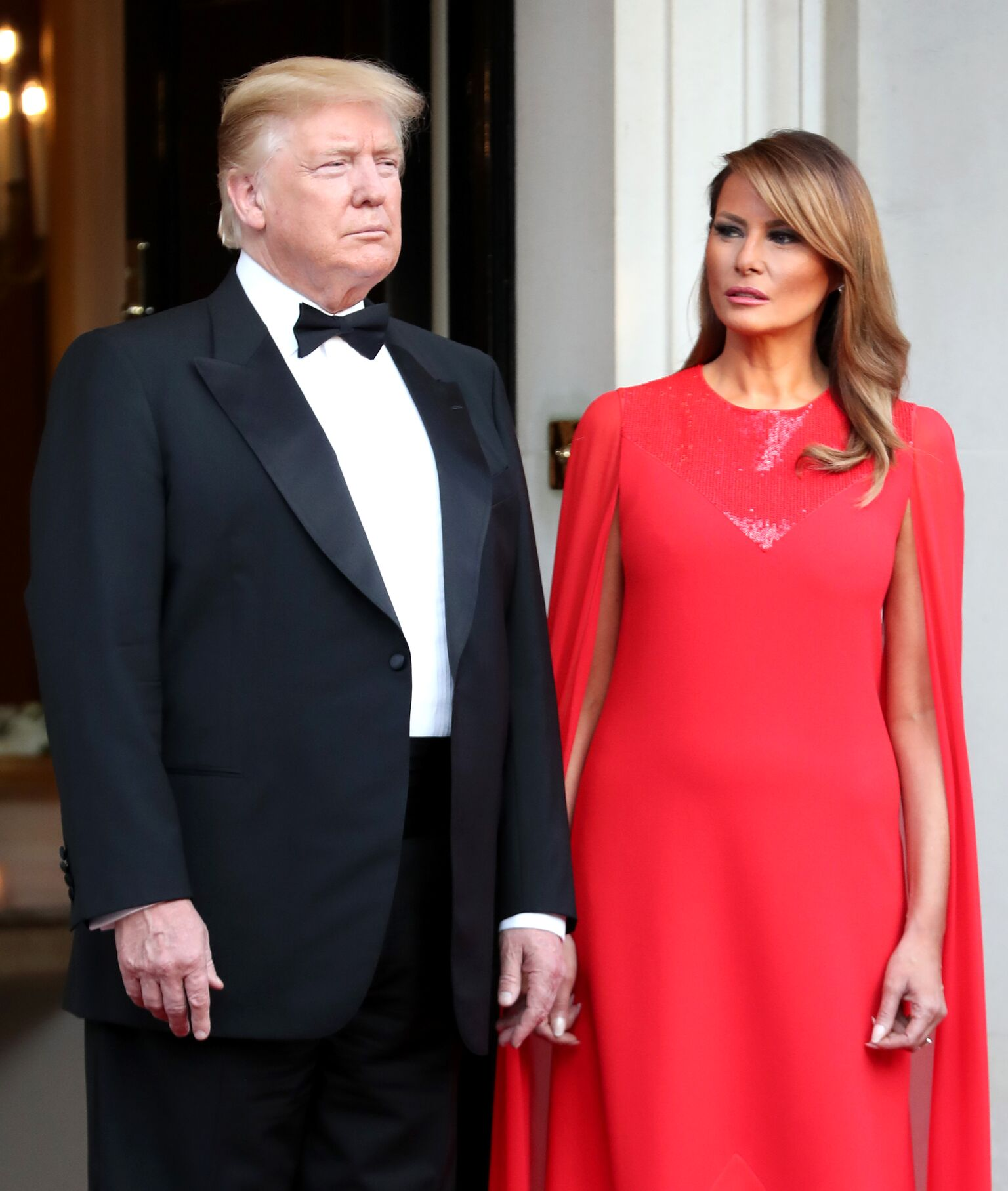 President Donald Trump and First Lady Melania Trump pose ahead of a dinner at Winfield House for Prince Charles, Prince of Wales and Camilla, Duchess of Cornwall, during their state visit on June 04, 2019 | Photo: Getty Images