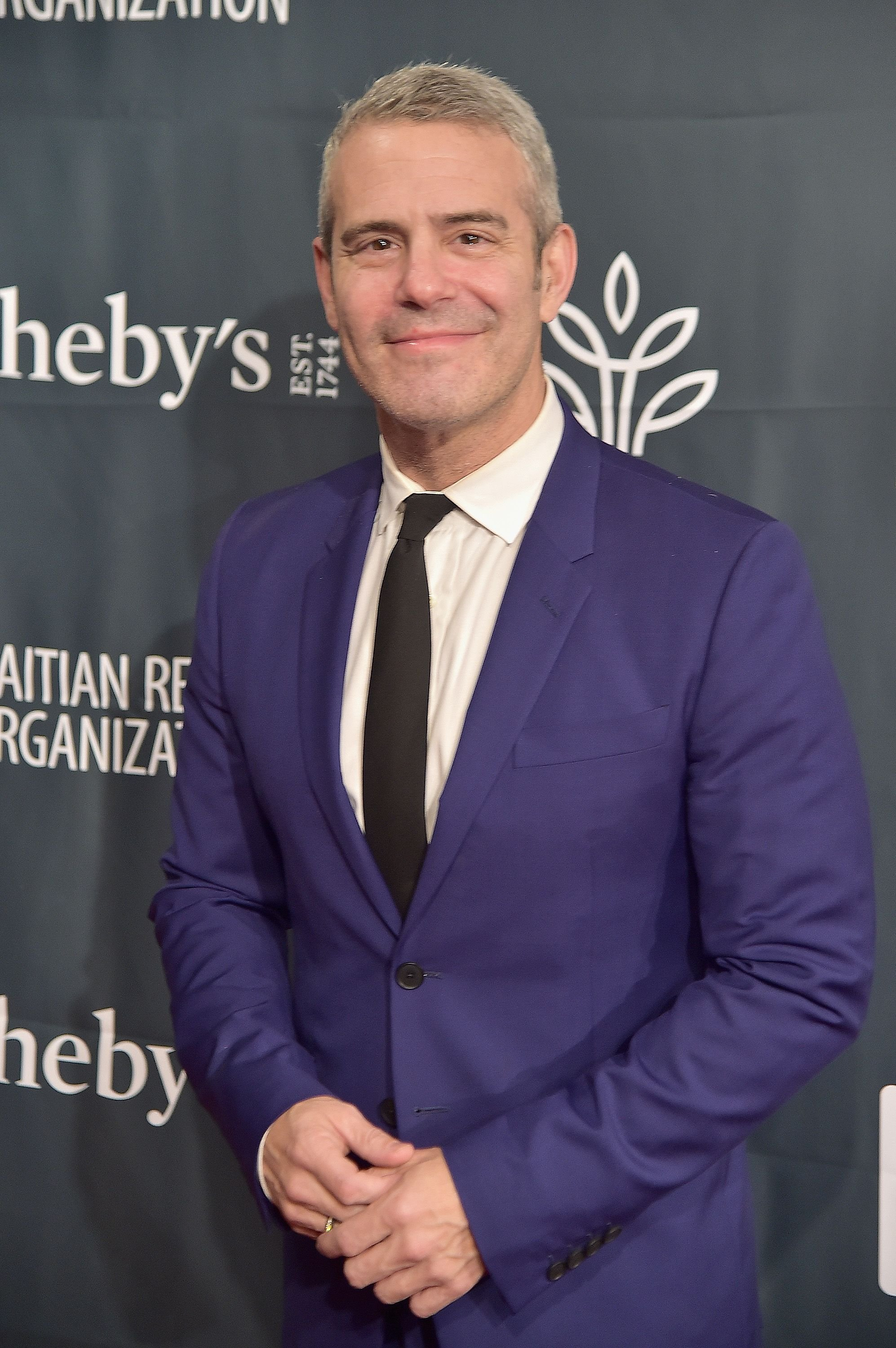 "Andy Cohen during ""Haiti Takes Root: A Benefit Dinner & Auction to Reforest & Rebuild Haiti"" at Sotheby's on May 5, 2017 in New York City. 