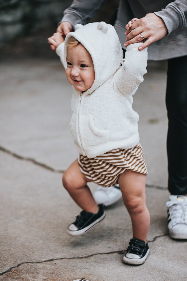 Kelsey's happiness was complete when Lyra took her first faltering steps   Source: Unsplash