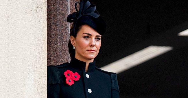 Kate Middleton Rocks Custom Alexander McQueen Coat and Matching Hat for Remembrance Day Service