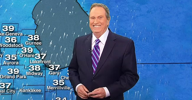 Jerry Taft during a weather broadcast on ABC7 | Photo: youtube.com/ABC 7 Chicago