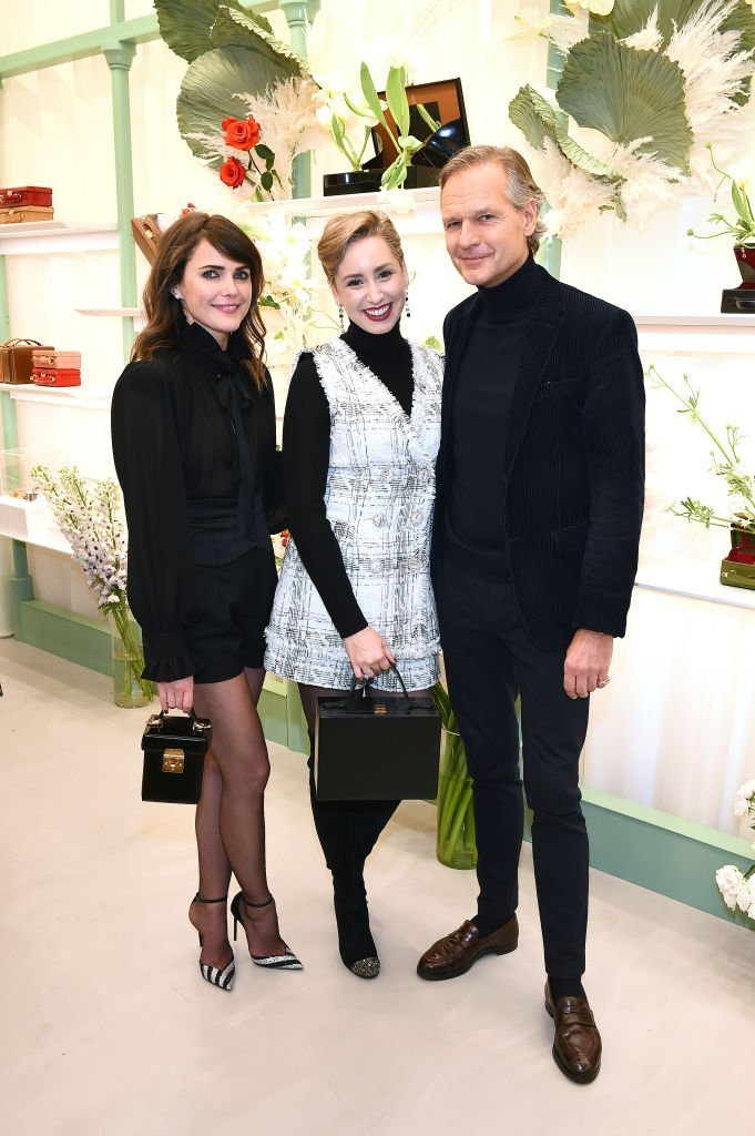 Keri Russell, Jazmin Grace Grimaldi, and Ulrik Garde Due attend the Mark Cross Flagship Grand Opening Celebration. | Source: Getty Images