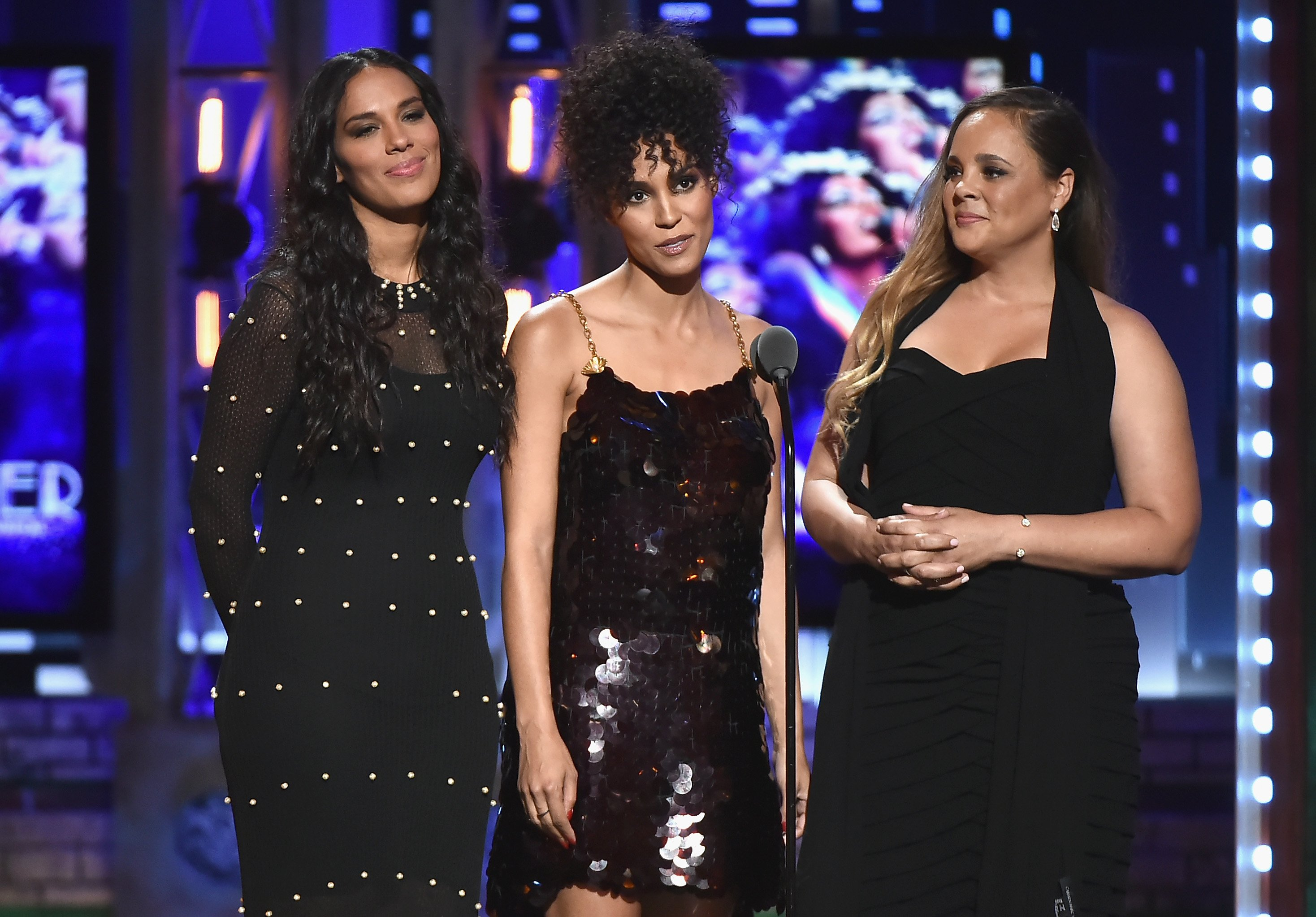 Brooklyn Sudano, Amanda Sudano and Mimi Summer attend the 72nd Annual Tony Awards at Radio City Music Hall on June 10, 2018. | Photo: GettyImages