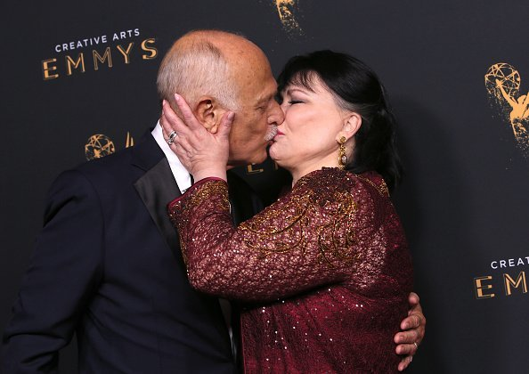 Gerald McRaney and Delta Burke at the 2017 Creative Arts Emmy Awards at Microsoft Theater on September 10, 2017 in Los Angeles, California. | Photo: Getty Images