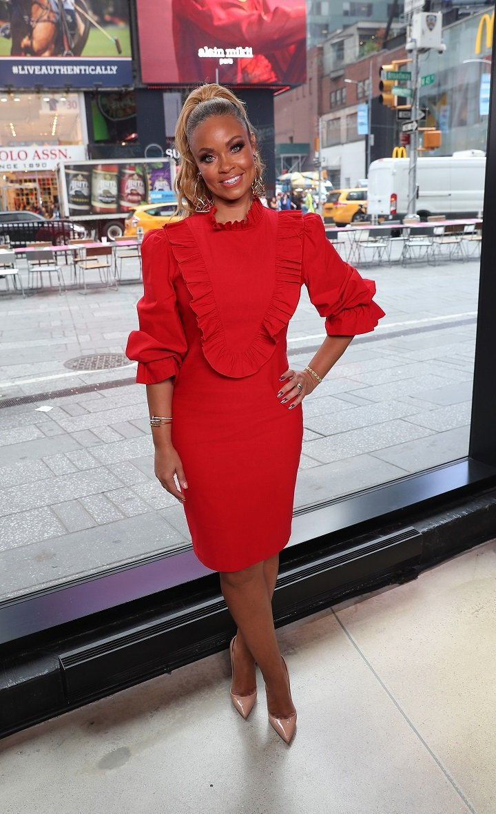 """Gizelle Bryant visiting """"Extra"""" at The Levi's Store Times Square in New York City in September 2019.   Image: Getty Images."""