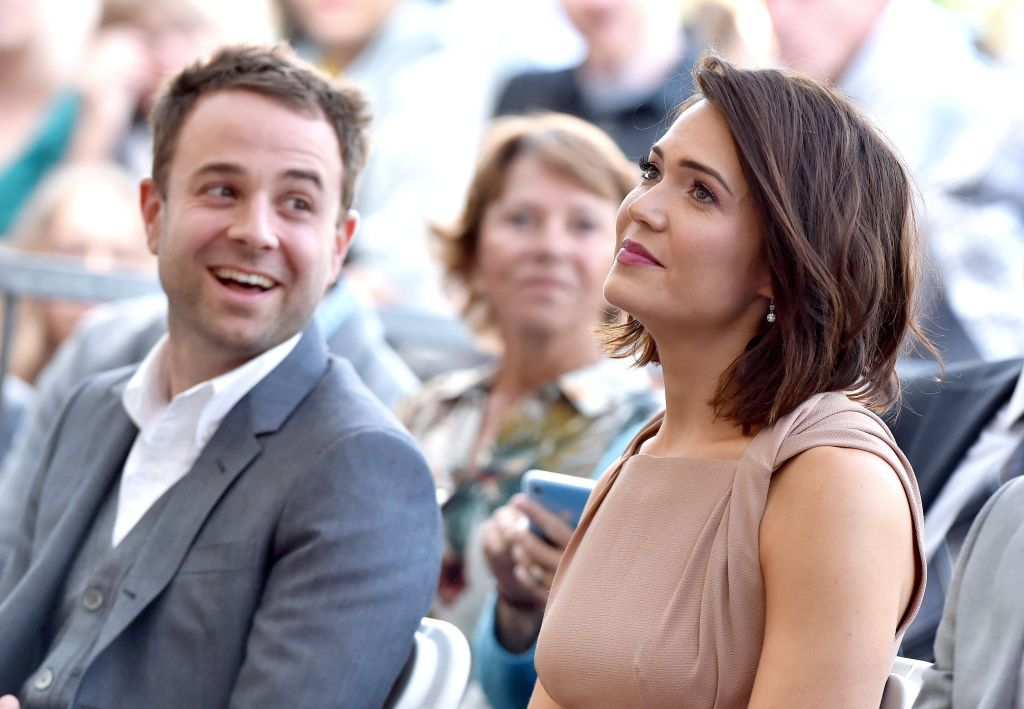 Mandy Moore and Taylor Goldsmith at the ceremony honoring Moore with a Star on the Hollywood Walk of Fame, Source   Photo: Getty Images