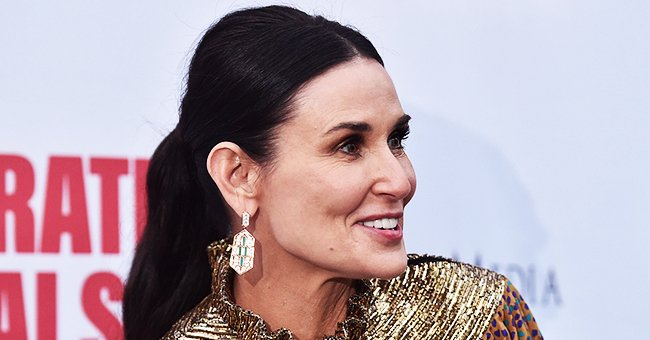 Check Out Demi Moore's Entry to the Black and White Photo Challenge Featuring Her Adorable Puppy