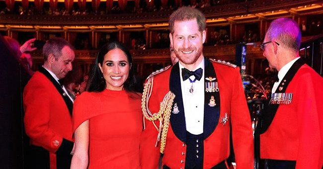 Harry and Meghan Smiled & Held Hands as They Received Standing Ovation at the Mountbatten Festival of Music