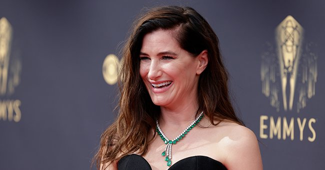Kathryn Hahn arrives at the 73rd Emmy Awards in September 2021   Source: Getty Images