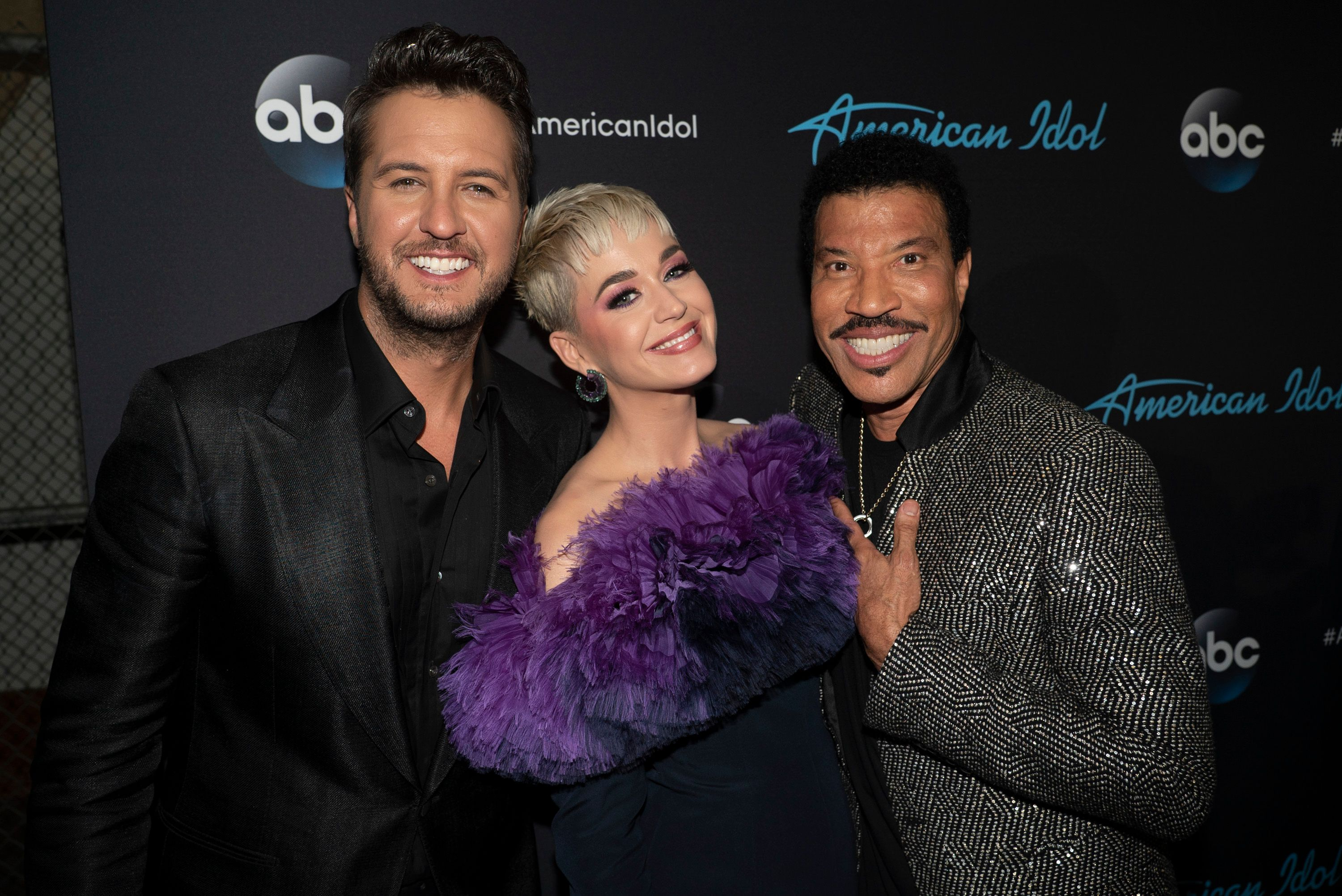 """Luke Bryan, Katy Perry, and Lionel Richie on the set of """"American Idol"""" on May 21, 2018.   Photo: Getty Images"""