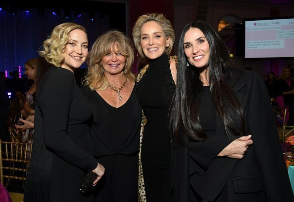 Honoree Kate Hudson, Goldie Hawn, Sharon Stone and Demi Moore   Photo: Getty Images