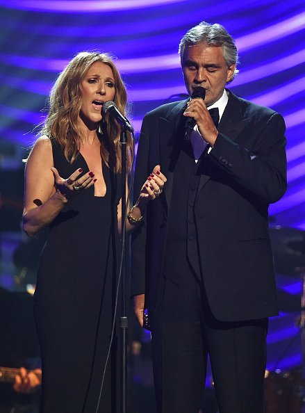 Celine Dion and Andrea Bocelli performing together | Photo: Getty Images