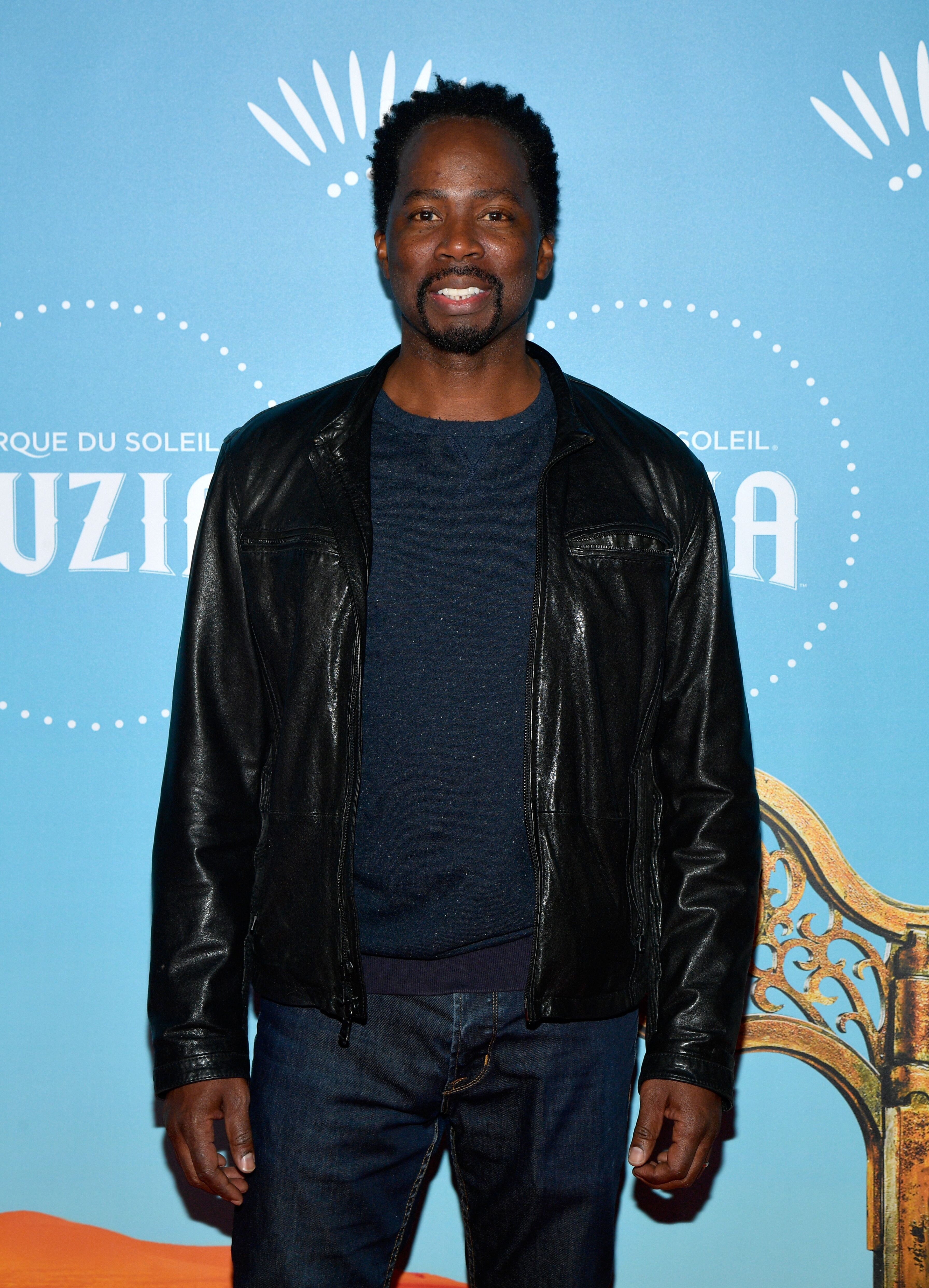 "Harold Perrineau attends Cirque du Soleil presents the Los Angeles premiere event of ""Luzia"" at Dodger Stadium on December 12, 2017 in Los Angeles, California. 