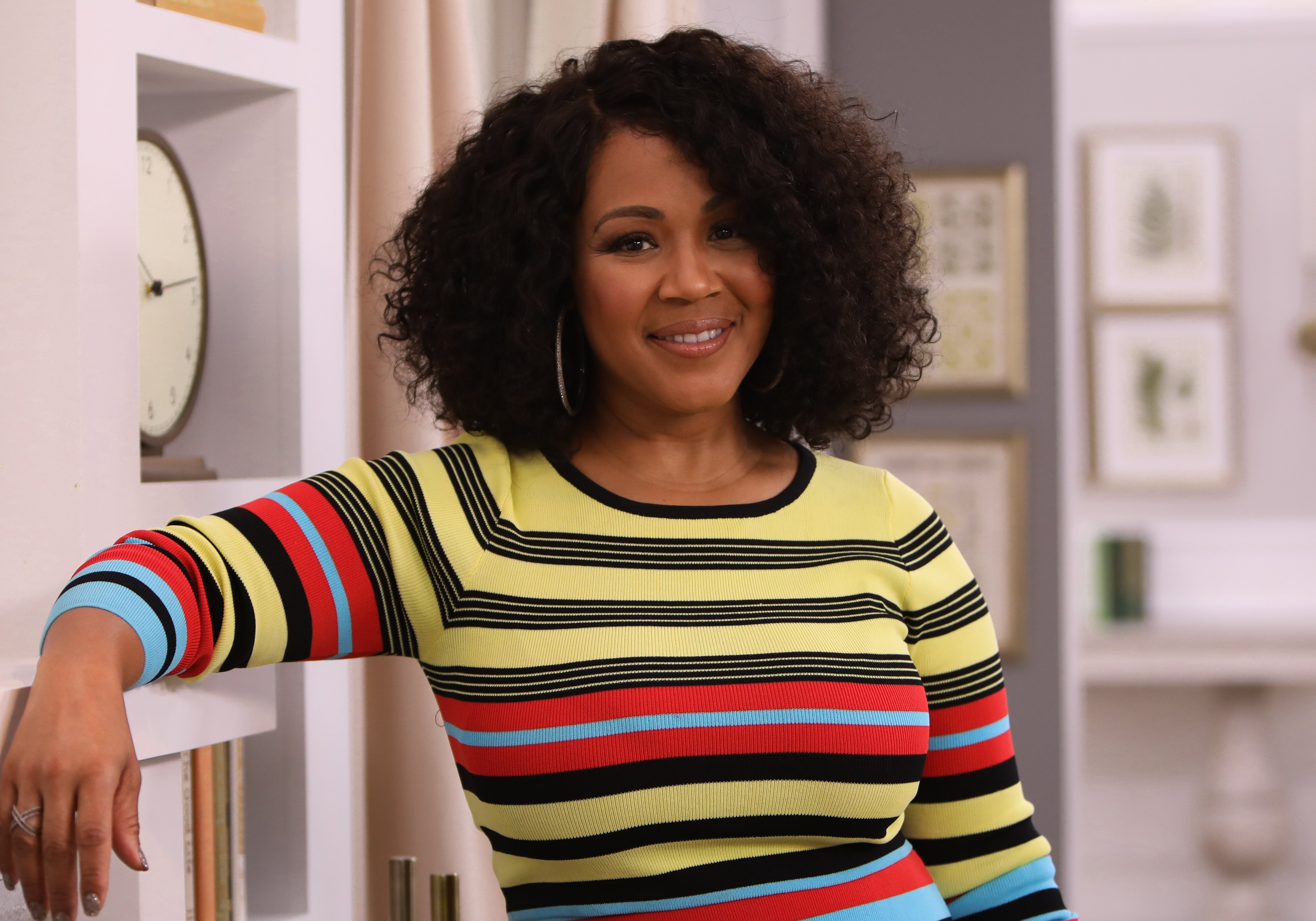 """Erica Campbell visits """"Home & Family"""" at Universal Studios Hollywood on September 26, 2019 in Universal City, California. 