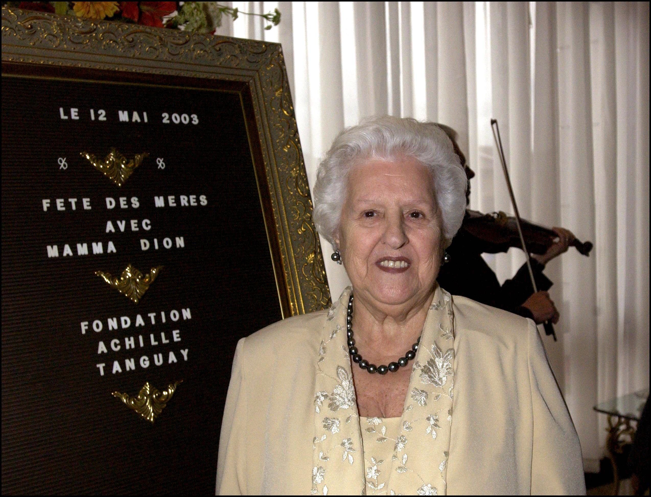 Celine Dion's mother Therese attends a benefit in Canada in 2003   Source: Getty Images