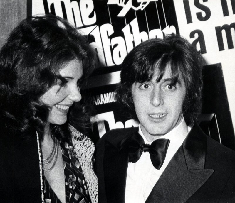 "Jill Clayburg and Al Pacino attending the premiere of ""The Godfather"" in New York City in March 1972. 
