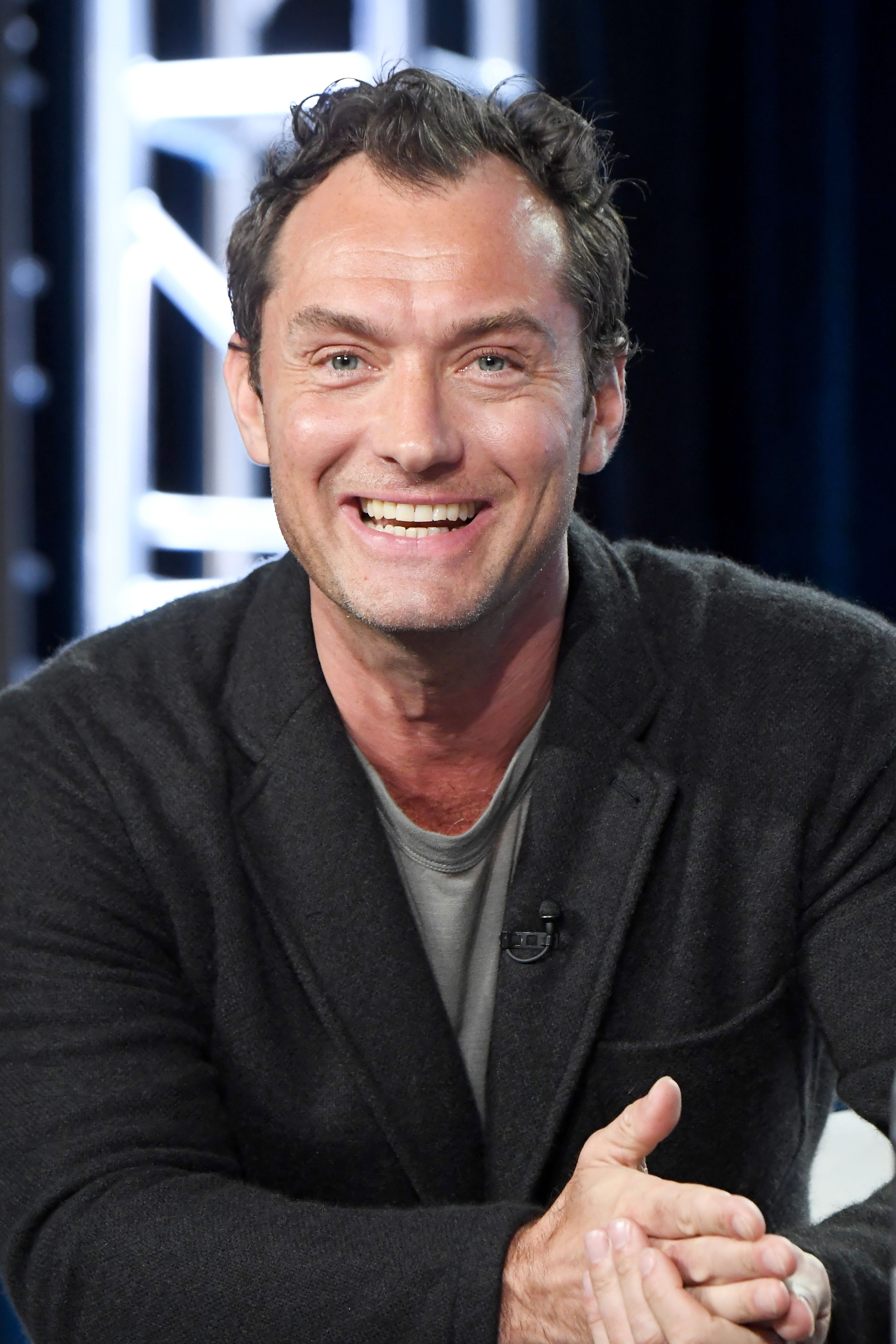 Jude Law during the HBO portion of the 2017 Winter Television Critics Association Press Tour at Langham Hotel on January 14, 2017 in Pasadena, California.   Source: Getty Images