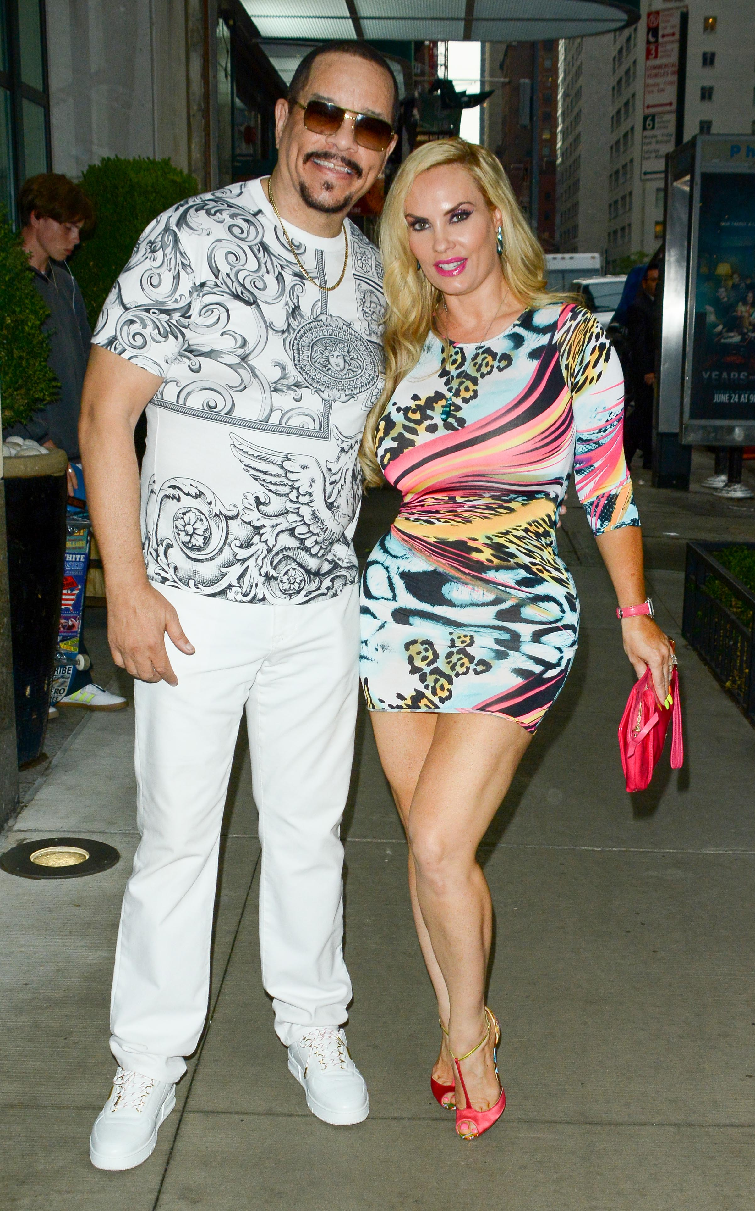 Ice-T and his wife Coco Austin pictured on August 13, 2019 in New York City. | Photo: Getty Images