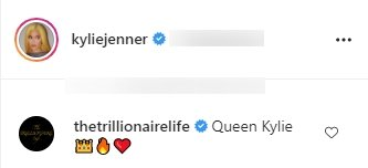 A fan's comment on Kylie Jenner's picture wearing a nude dress.   Photo: Instagram/Kyliejenner