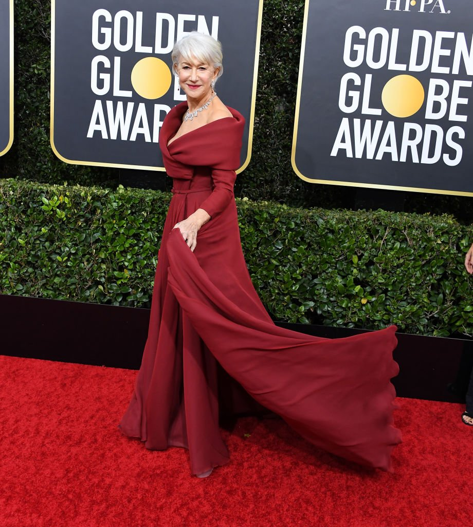 Helen Mirren arrives at the 77th Annual Golden Globe Awards attends the 77th Annual Golden Globe Awards at The Beverly Hilton Hotel on January 05, 2020 | Photo: Getty Images