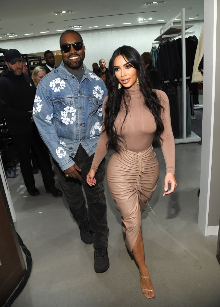 Kanye West and Kim Kardashian West celebrate the launch of SKIMS at Nordstrom NYC on February 05, 2020 in New York City. | Photo: Getty Images