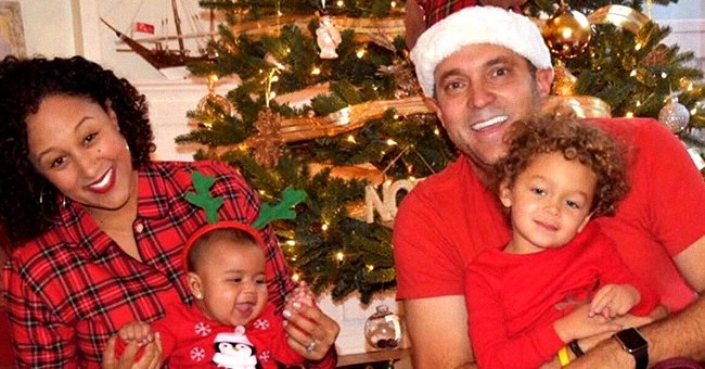 Tamera Mowry of 'The Real' Melts Hearts with Throwback Christmas Photo of Her Family in Similar Outfits
