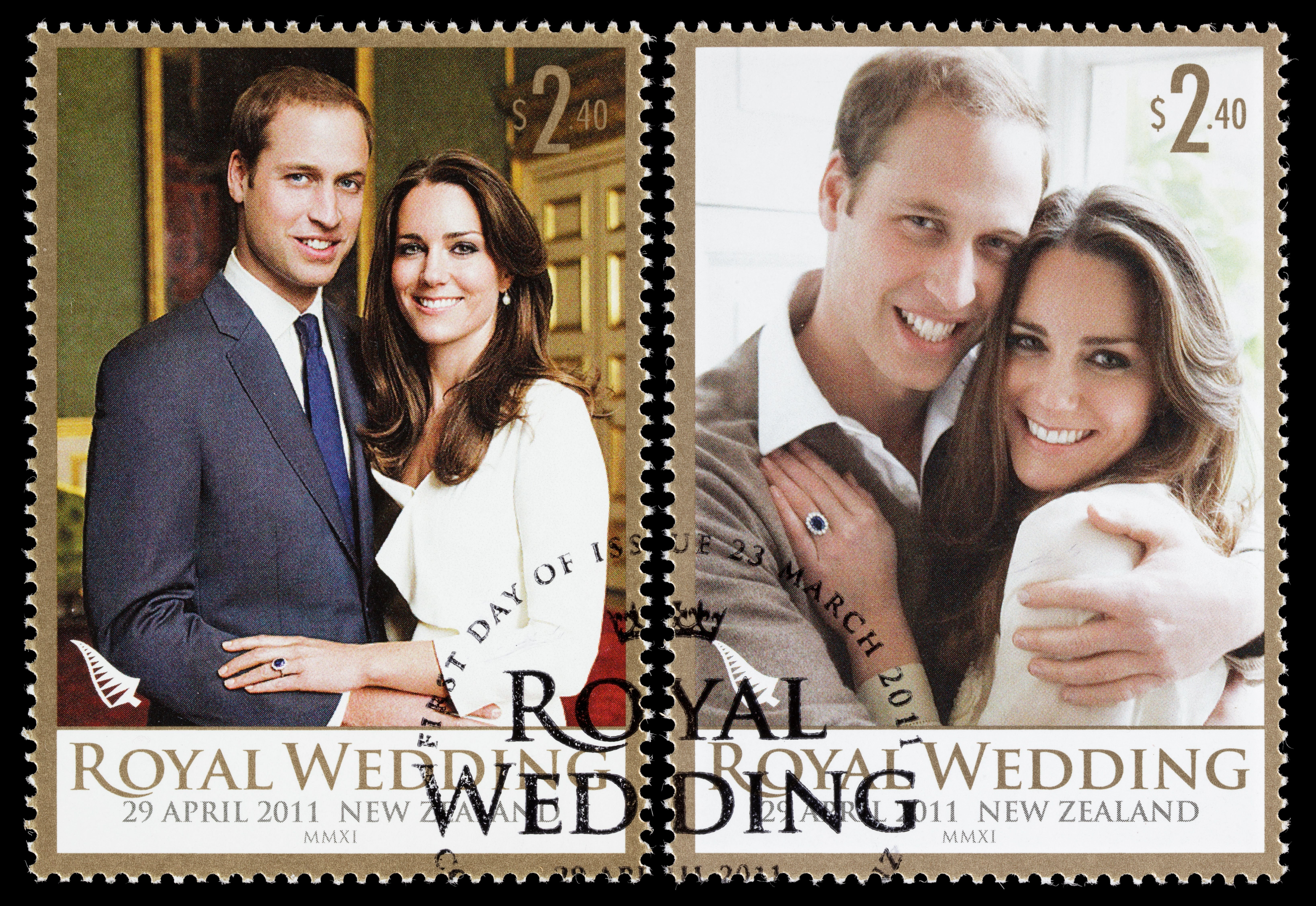 Photo of Prince William and Kate Middleton's wedding invitation | Photo: Getty Images