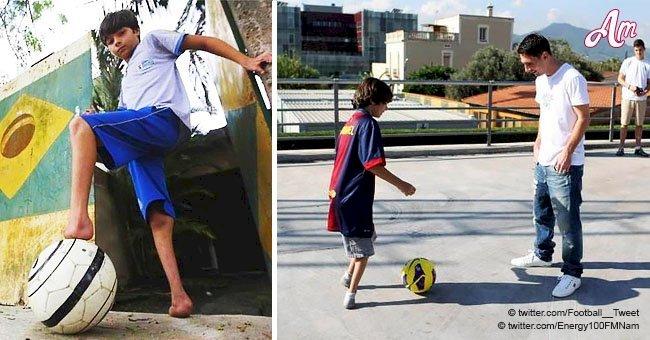 Increíble historia de niño que nació sin pies y se convirtió en jugador de fútbol a pesar de todo