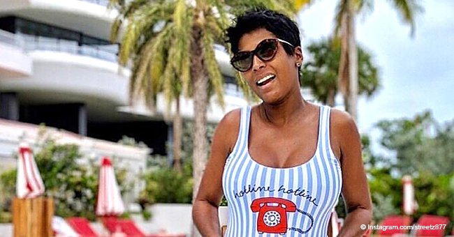 Tamron Hall Flaunts Her Growing Baby Bump in Striped One-Piece Swimsuit in Recent Photo