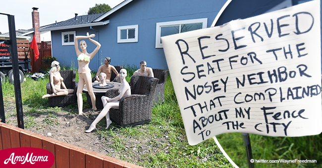 Thieves steal two naked mannequins from garden party at