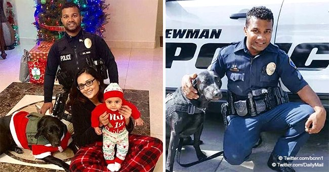 Heartbreaking last pic of cop with family hours before he was 'shot dead by an illegal immigrant'