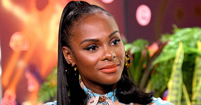 Tika Sumpter from 'Mixed-ish' Flaunts Her Flawless Skin in Off-Shoulder Outfit in Recent Pic