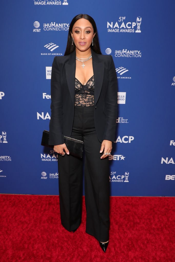 Tamera Mowry-Housley attends 51st NAACP Image Awards - non-televised Awards Dinner - arrivals on February 21, 2020 in Hollywood, California | Photo: Getty Images