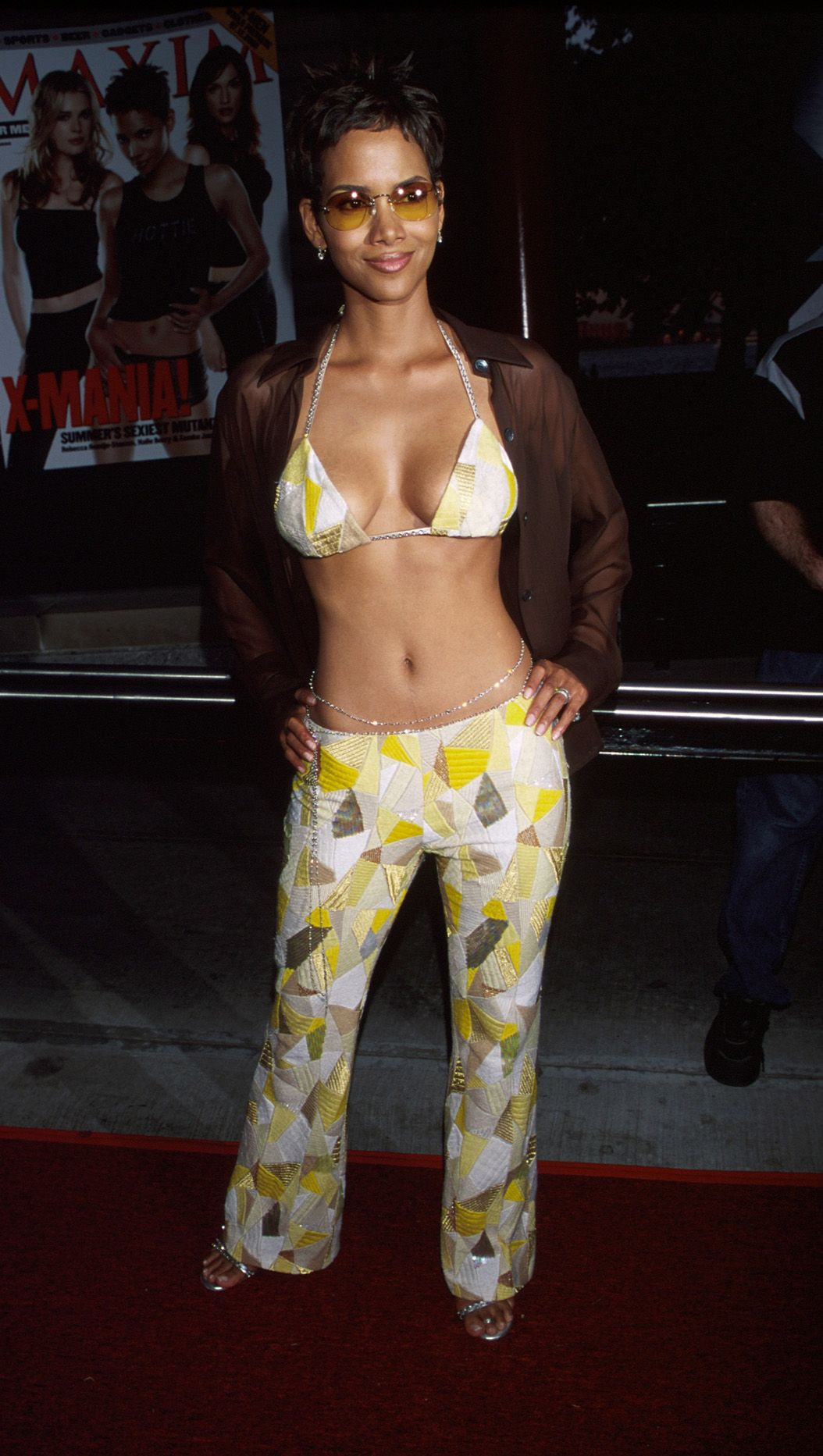 """Halle Berry at the """"X-Men"""" New York City premiere on July 12, 2000 