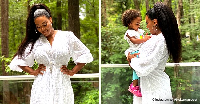 Kenya Moore And Her Daughter Brooklyn Look Cute In Matching White Outfits In A New Photo