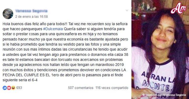 Mamá desesperada se queda sin trabajo antes de los 15 de su hija y ruega a su comunidad por ayuda