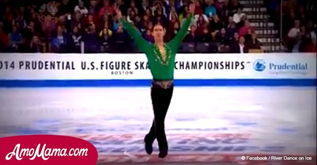 Olympic skater performs 'Irish Dances' on ice and drives a whole stadium to their feet